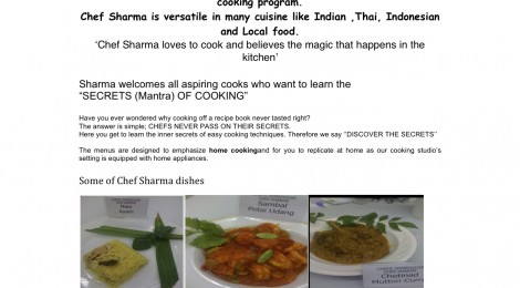 Introducing Chef Sharma