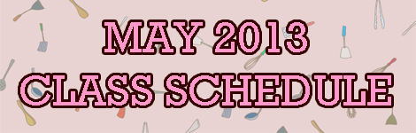 MAY 2013 SCHEDULE