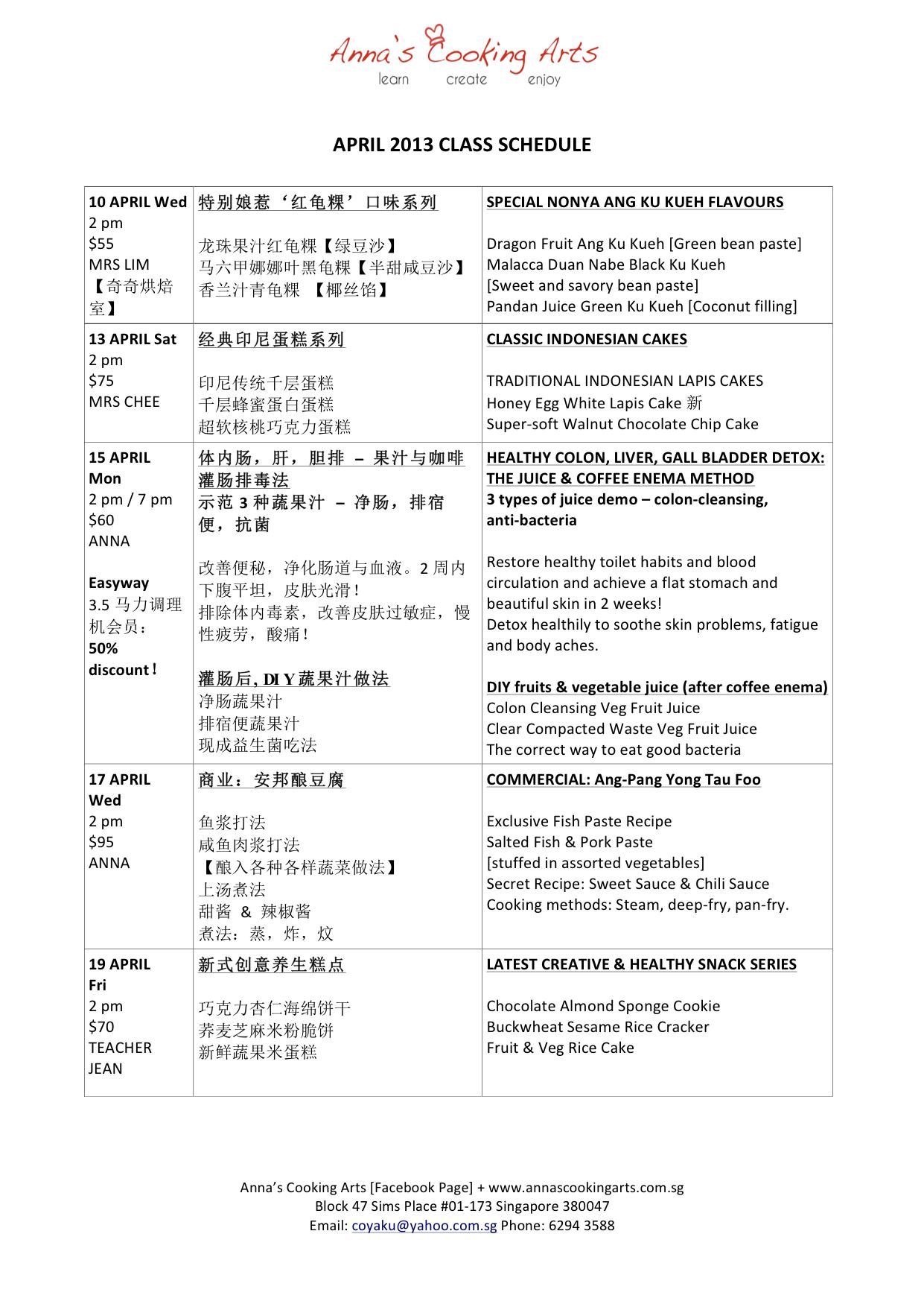 Time Table  April-2013-21