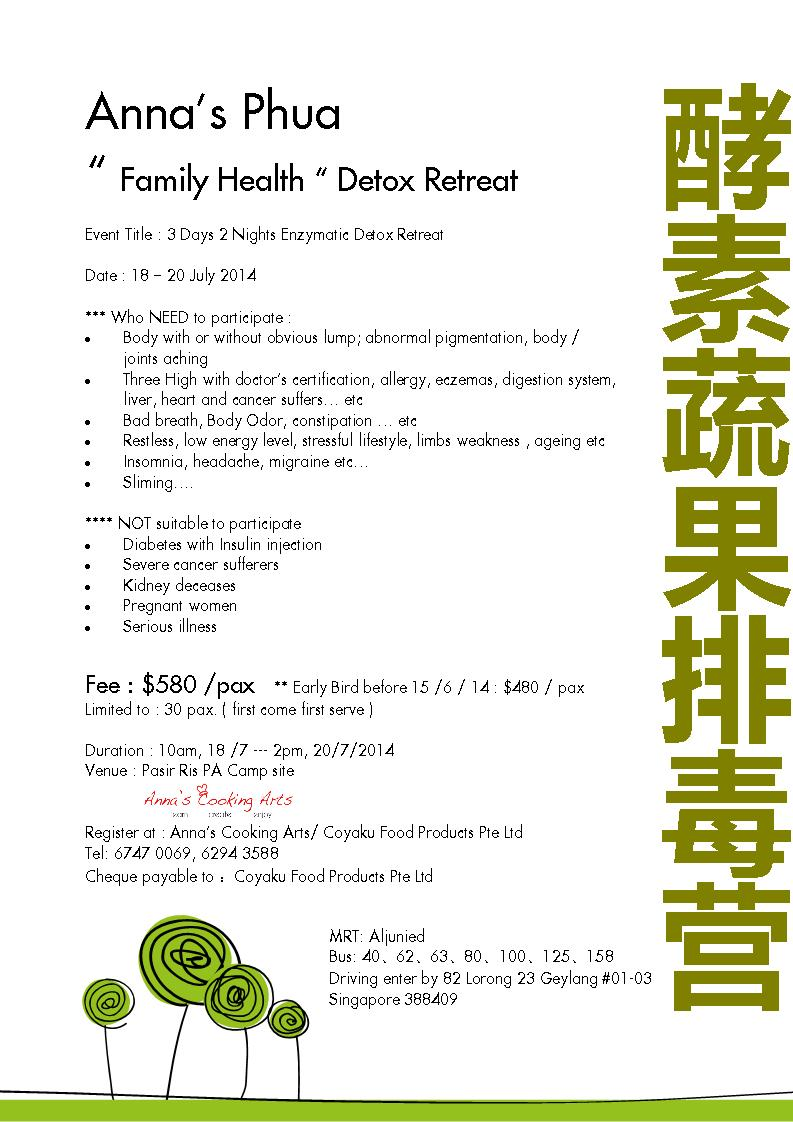 Anna Phua family health detox retreat
